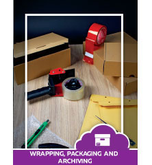 Wrapping packaging and archiving
