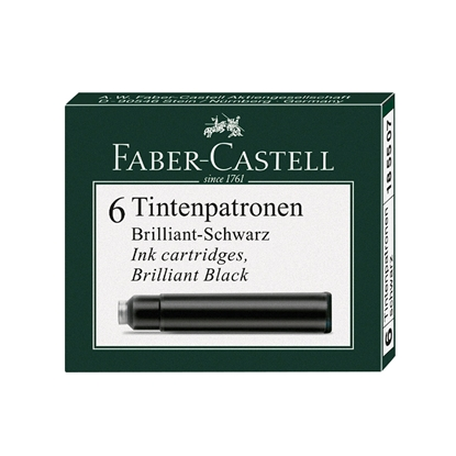 Picture of Faber-Castell Ink cartridge for fountain pen, black, 6 pcs.