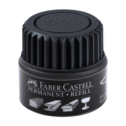 Picture of Faber-Castell Grip Permanent marker refill, 30 ml, black