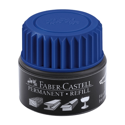 Picture of Faber-Castell Grip Permanent marker refill, 30 ml, blue