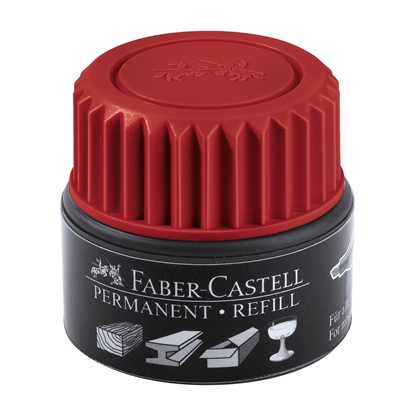 Picture of Faber-Castell Grip Permanent marker refill, 30 ml, red