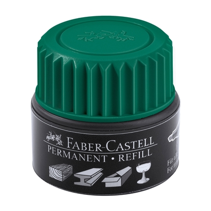Picture of Faber-Castell Grip Permanent marker refill, 30 ml, green