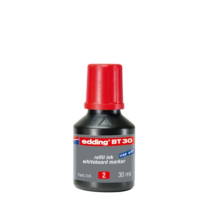 Picture of Edding Whiteboard marker refill ink BT30, 30 ml, red