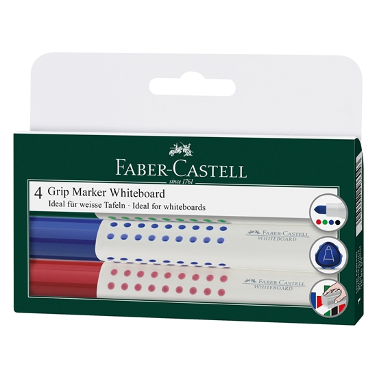 Picture of Faber-Castell Grip 1583 Whiteboard marker, 4 colours