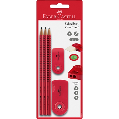 Picture of Faber-Castell Set Sleeve, red, in a blister