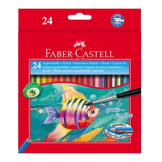 Picture of Faber-Castell Watercolour Pencils , 24 colours, brush included