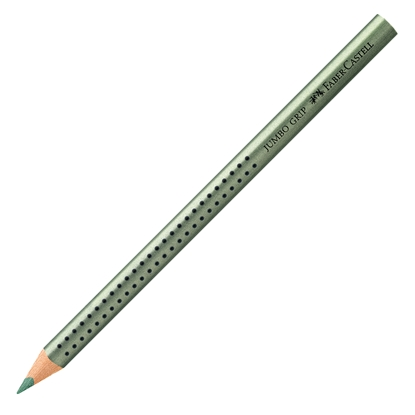 Picture of Faber-Castell Colour pencil Jumbo Grip, metallic, green