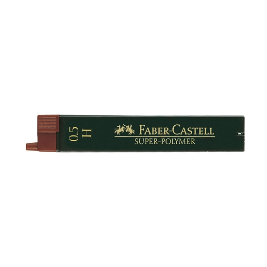 Picture of Faber-Castell Super-Polymer  Fineline Lead,  0.5 mm, H, 12 pcs.