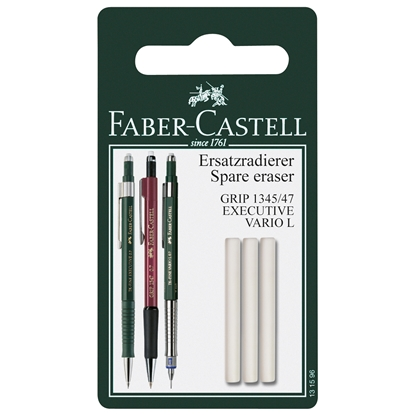 Picture of Faber-Castell Grip 1345/1347 Spare eraser for Mechanical pen , 3 in blister