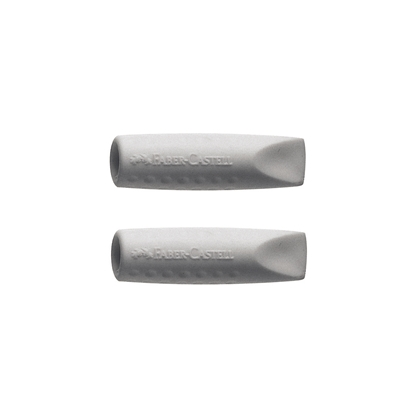 Picture of Faber-Castell Grip  2001 Eraser cap grey, 2pcs.