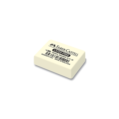 Picture of Faber-Castell 7041-20 Natural rubber eraser for pencil, white