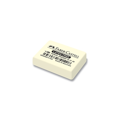 Picture of Faber-Castell 7041-40 Natural rubber eraser for pencil, white