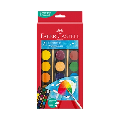 Picture of Faber-Castell watercolors, 21 colors