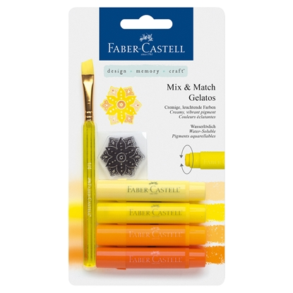 Picture of Faber-Castell watercolor pastel Gelatos, set yellow, 4 colors