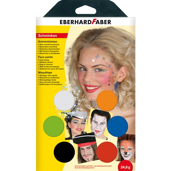 Picture of Eberhard Faber face paints, artists, 6 colors