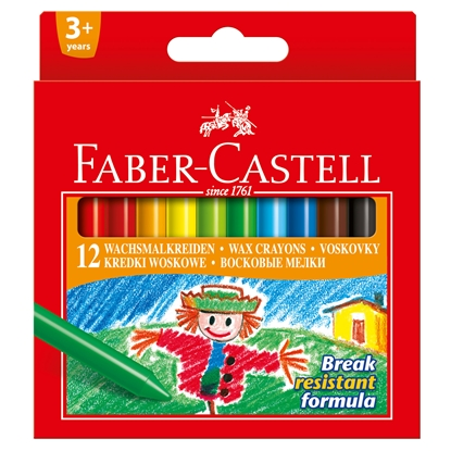 Picture of Faber-Castell wax pastels, 12 colors