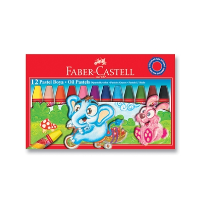 Picture of Faber-Castell oil pastels, 12 colors
