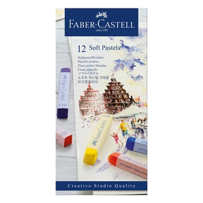 Picture of Faber-Castell Пастели Goldfaber, сухи, Soft, 12 цвята