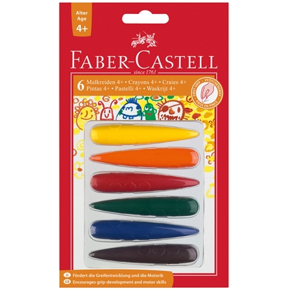 Picture of Faber-Castell pastels Finger, 6 colors