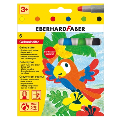 Picture of Eberhard Faber pastels, gel, with holder, 6 colors