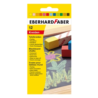 Picture of Eberhard Faber chalk, 12 colors