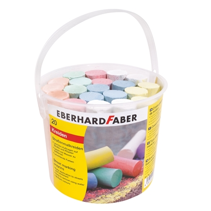 Picture of Eberhard Faber chalk, 6 colors, 20 pcs in a bucket