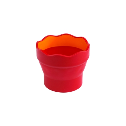 Picture of Faber-Castell cup for painting Clic&Go, bendable, red