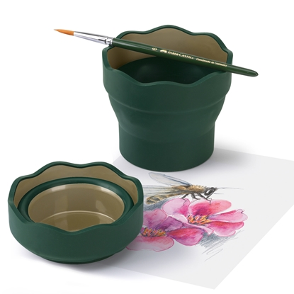 Picture of Faber-Castell cup for painting Clic&Go, bendable, darkgreen