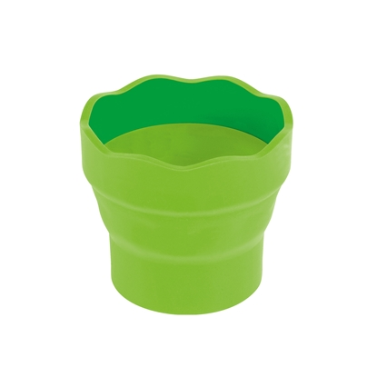 Picture of Faber-Castell cup for painting Clic&Go, bendable, lightgreen