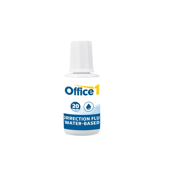 Picture of Office 1 Superstore Correction fluid bottle, water-based,  20 ml
