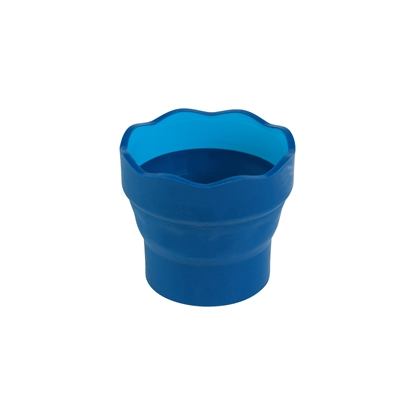 Picture of Faber-Castell cup for painting Clic&Go, bendable, blue
