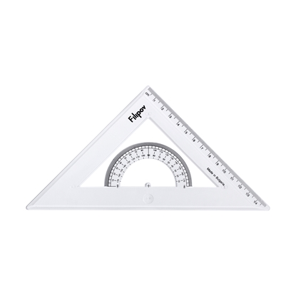 Picture of Filipov Triangle, rectangular, isosceles, with а protractor, 45 degrees, 15 cm