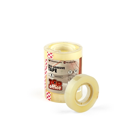 Picture of Top Office Stationery tape, 12 mm x 33 m, transparent, 6 pcs.