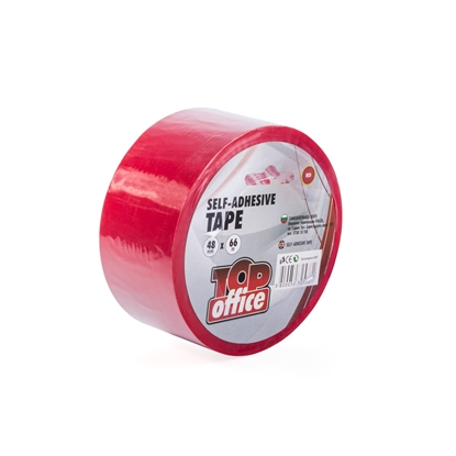 Picture of Top Office Packing tape, 48 mm x 66 m, red