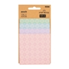 Picture of Stickn Step sticky notes Vintage, 4 sizes, 4 colors, 100 sheets