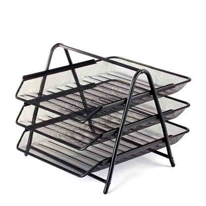 Picture of File Tray Mesh triple, metal, black