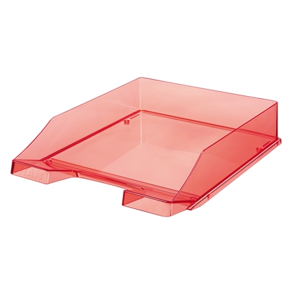 Picture of HAN Transparent Letter Tray, red