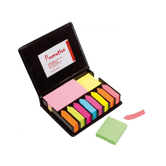 Picture of TOPS Self-adhesive notes and indexes  Remind me , colored, in a black leather case