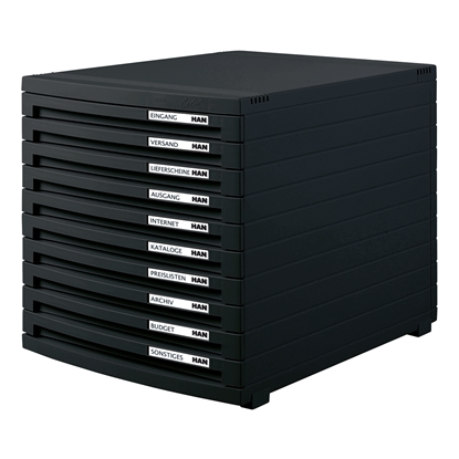 Picture of HAN Contur Box with 10 drawers, black