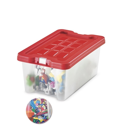 Picture of Fabio Storage Box 4 litres, red lid