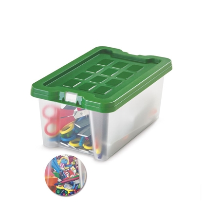 Picture of Fabio Storage Box 4 litres, green lid
