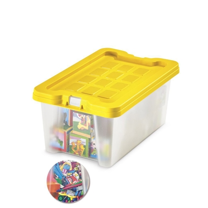 Picture of Fabio Storage Box 4 litres, yellow lid