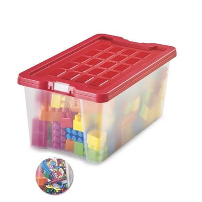 Picture of Fabio Storage Box 9 litres, red lid