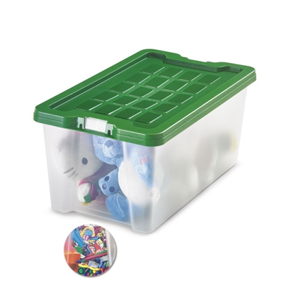 Picture of Fabio Storage Box 9 litres, green lid