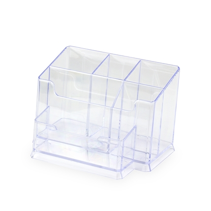 Picture of Ark Desk organiser 766, with 6 compartments, transparent