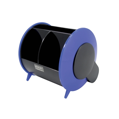 Picture of O-Life Desk Organizer S-898, empty, black/blue
