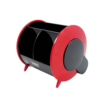 Picture of O-Life Desk Organizer S-898, empty, black/red