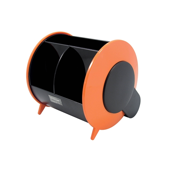 Picture of O-Life Desk Organizer S-898, empty, black/orange