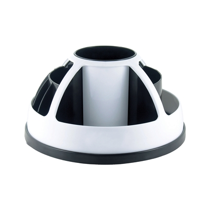 Picture of O-Life Desk Organizer S-899, rotating, empty, black/white