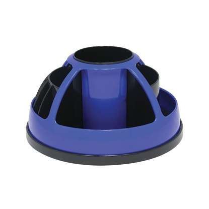 Picture of O-Life Desk Organizer S-899, rotating, empty, black/blue